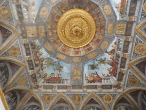 Ceiling painting in the Palazzo Constabili